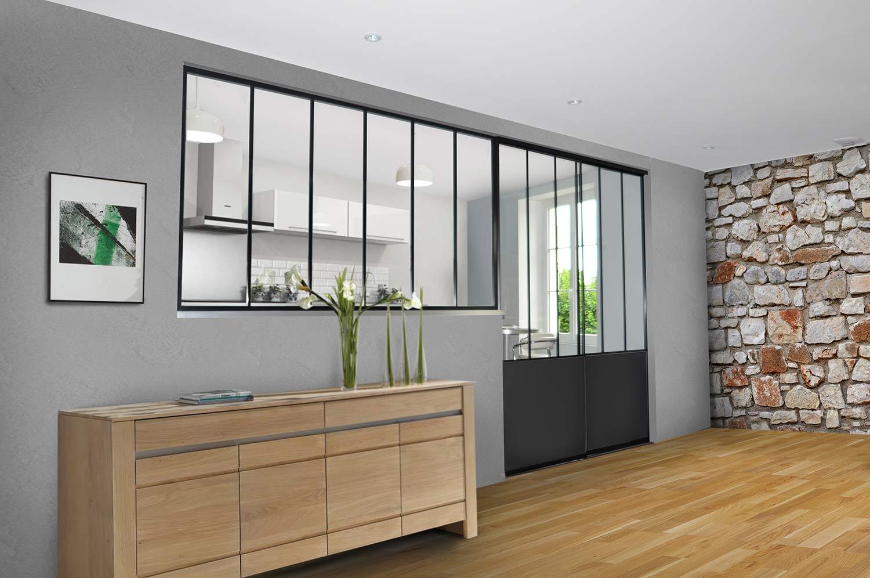 chantier de verri re atelier en aluminium. Black Bedroom Furniture Sets. Home Design Ideas