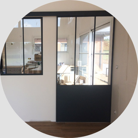 Porte verri re coulissante atelier sur mesure aluminium for Fenetre verriere coulissante